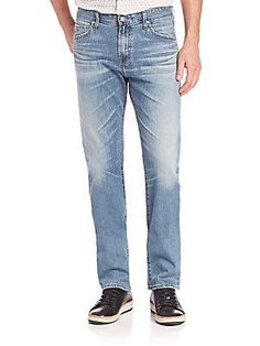 AG The Graduate Tailored-Leg Jeans - Blue - Size 32   R