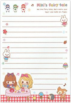 Letter paper Miki's Fairy Tale