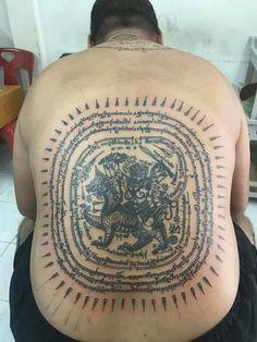Sak Yant Tattoo, Wardrobe Room, Thai Tattoo, Tattoo Designs, Tatoo, Thailand Tattoo, Tattooed Guys, Tattoo Patterns, Design Tattoos