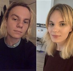 Little over a year apart months HRT) Male To Female Transgender, Transgender Girls, Mtf Hrt, Mtf Before And After, Mtf Transition, Male To Female Transformation, Transgender Community, Brave Women, Different Hairstyles