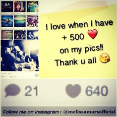 Recently you gave me lots of LIKES and love ;) thank you. Keep clicking, I love High numbers :) top number: 640! Récemment, vous m'avez donné beaucoup de Cœurs n' LIKES sur mes photos, ça fait plaisir. Record: 640 LIKES !! Continuez à cliquer et me suivre. Love MM. #like #love #me #instagram#melissa #mars #melissamars #record #happy#follow #instaframe #ilovemylife #lifeisbeautiful