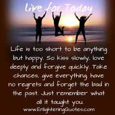 #Live in the #moment, cause we do not know what can happen, the past is over the #future is not guaranteed.