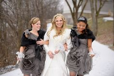 This would be me and my sisters at my wedding