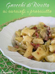 gnocchi di ricotta con carciofi e prosciutto #recipe #juliesoissons