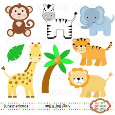 Jungle Animals Clip Art zoo animals by SweetLollipopDesigns, $5.00