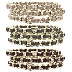 Chanel Interlaced Chain Bracelets