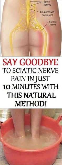 Say goodbye to sciatic nerve pain in just 10 minutes with this natural method!