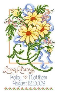 Summer Wedding - cross stitch pattern designed by Ursula Michael. Category: Wedding.