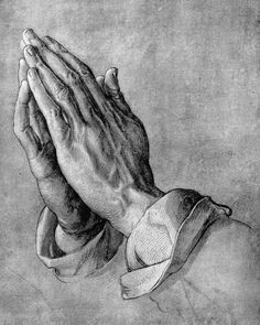 """'Praying hands' is a famous pen-and-ink drawing by the German artist Albrecht Dürer, 1508. """"He who makes a sacrifice, so another may succeed, Is indeed a true disciple of our blessed Savior's creed—For when we give ourselves away in sacrifice and love, We are laying up rich treasures in God's kingdom up above—And hidden in gnarled, toil worn hands is the truest art of living, Achieved alone by those who've learned the victory of giving."""" –Helen S. Rice"""