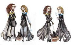 Tim Burtonned in Hogwarts Commission by La-Chapeliere-Folle