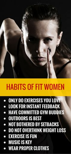Effective habits of women who love to exercise. #healthy #weightloss #fitness #workout http://lindseyreviews.com/10-habits-of-women-who-love-to-exercise/