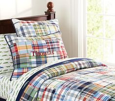 I love the Madras Quilted Bedding on potterybarnkids.com