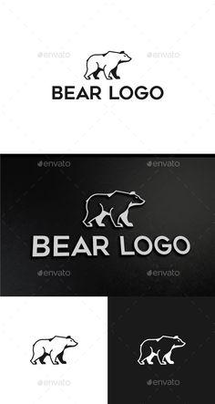 Bear Logo by JusticioKwan Logo Features: -Vector Files -CMYK ready to print -Resizable files -Organized Layers -Editable -White version Files included: -Ai Nature Green, Logos, Barber Logo, Portfolio Logo, Finance, Bear Logo, Bear Cartoon, Travel Logo, Logo Design Template