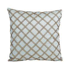Bombay & Co, Inc.::HOME DÉCOR::Decorative Pillows::Ocean Blue Crystal Cushion Cover