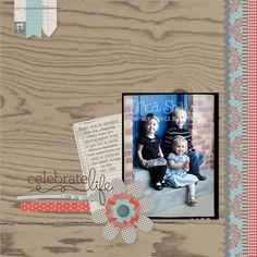 Celebrate life page - loving the woodgrain!