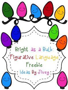 Bright As A Bulb: Figurative Language Freebie
