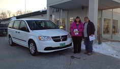 Linda and Tony's new 2015 DODGE GRAND CARAVAN! Congratulations and best wishes from North Country Nissan and LOUIS YOUNG.