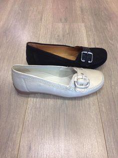 Gabor mocassin in de kleuren beige metallic en zwart - Sluimer schoenen