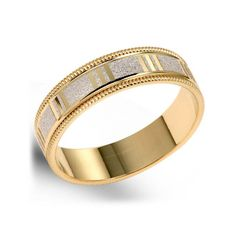 Square Facet Wedding Band In 14k Yellow Gold Oscar S And Indira S