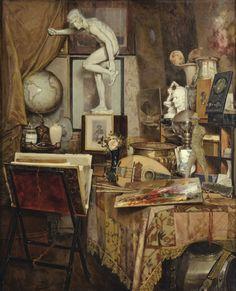 Louis Gontier, Intérieur d'Atelier, 1898. Oil on canvas.