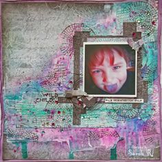 Scraps of Darkness: Twisted & Tangled Kit - layout by Sarah Routledge