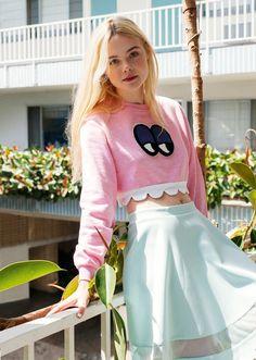 ASOS Editorial July 2014 - Elle Fanning by Michael Hauptman Stylist Zeba Lowe Art Direction Marina Ansell Hair Stylist Mark Townsend Makeup ...