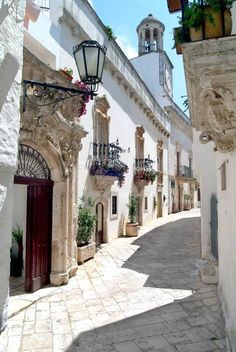 Beautiful streets, Puglia, Italy