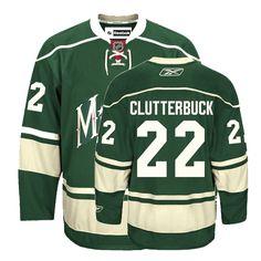 NHL Minnesota Wild  22 Cal Clutterbuck Green Third Jersey ID 2588 Price  35 35b0f8c0f