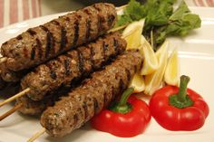 Grilled Ground Beef Kebabs Great with A1