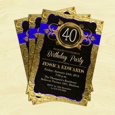 40th Birthday Invitation / 30th / 50th / by TheStarDustFactory