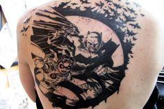 50 Best Batman Tattoo Designs and Ideas - Beste Tattoo Ideen Face Tattoos, Top Tattoos, Great Tattoos, Forearm Tattoos, Tattoos For Guys, Batman Logo Tattoo, Batman Symbol Tattoos, Hand Tattoo, S Tattoo