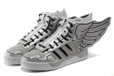 Adidas High Tops JS Wings 2.0 NASA Silver