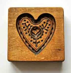 ❤ 1910 Butter press    Daddy loved to whittle. He made several butter molds for me.  Dogwood blossom; cow; rose; His whole family was artistic.  Seemed to come naturally to them.
