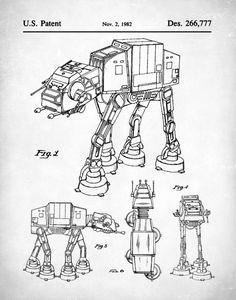 Star Wars au brevet Print Imperial Walker par NeueStudioArtPrints