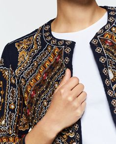 Image 5 of EMBROIDERED JACKET from Zara