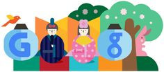 Girls' Day 2012 [Праздник девочек] /This doodle was shown: 03.03.2012 /Countries, in which doodle was shown: Japan