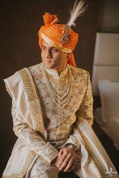 "Photo from album ""Ronak & Kinnari Wedding - Ahmedabad"" posted by photographer One Eye Vision Photography Indian Groom Dress, Wedding Dresses Men Indian, Wedding Dress Men, Wedding Poses, Wedding Groom, India Fashion Men, Indian Men Fashion, Mens Fashion, Planner Organisation"