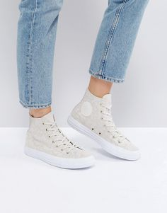 bdd6856d904 Shop Converse Chuck Taylor All Star Hi Top Trainers In Pale Leopard Print  at ASOS.