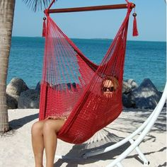 Bungalow Rose Travis Large Caribbean Polyester Chair Hammock | Wayfair Hanging Chair With Stand, Hammock Chair, Outdoor Furniture, Outdoor Decor, Bungalow, Caribbean, Rose, Style, Sun Lounger
