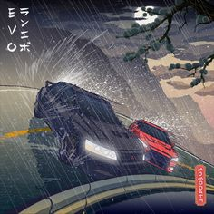 Mitsubishi Lancer Evolution, Summer rain drift – Traditional Japanese style Stic… - All About JDM Car Animes Wallpapers, Car Wallpapers, Street Racing Cars, Auto Racing, Jdm Wallpaper, Mitsubishi Cars, Mitsubishi Lancer Evolution, Drifting Cars, Japan Cars