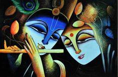 ArtsNyou - Radha Krishna The Eternal Love art series-2 Painting