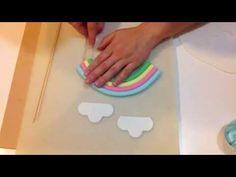 Rainbow cake topper - YouTube
