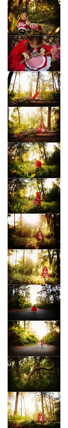 I love the idea of a fairytale photo shoot.  Cute for little girls or even high school seniors.