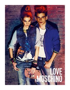 Giampaolo Sgura Captures the Charming Samuele Visentin for Love Moschino Spring/Summer 2012 Campaign