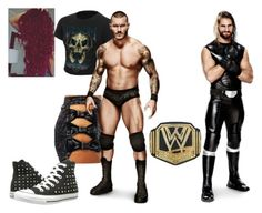 """""""Ringside for Randy Orton VS. Seth Rollins for The WWE World Heavyweight Championship."""" by jamiehemmings19 ❤ liked on Polyvore featuring CO, Venom, WWE and Converse"""