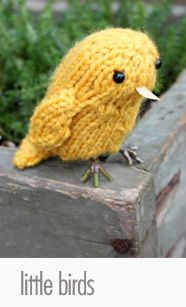 Love this #free knit bird pattern!