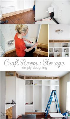 Craft Room - Installing Storage is the most important part of having a functional craft room I am sharing how we took a simple room and turned it into a beautiful and functional craft room! This is full of awesome ideas and customization! Craft Room Storage, Room Organization, Craft Rooms, Storage Ideas, Pegboard Storage, Ikea Storage, Office Storage, Space Crafts, Home Crafts