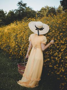 Bittersweet Colours Be Gentle With Yourself, Hat Shop, Wide-brim Hat, Perfect Timing, Vintage Yellow, Happy Mothers, Yellow Dress, Vintage Shops, Vintage Dresses