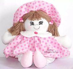 boneca de pano bebê rosa decorativa linda!!!