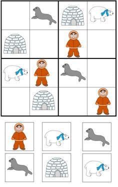 Auf Bing von www.pinterest.com gefunden Thema Winter Im Kindergarten, Kindergarten Activities, Classroom Activities, Winter Activities, Activities For Kids, Artic Animals, Polo Norte, Sudoku Puzzles, Winter Theme
